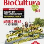 Sorteamos 20 entradas dobles para #BioCultura Madrid 2018
