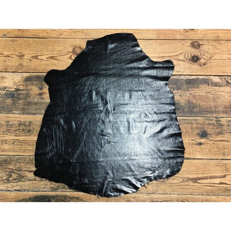 peau de cuir d agneau vernis noir maroquinerie