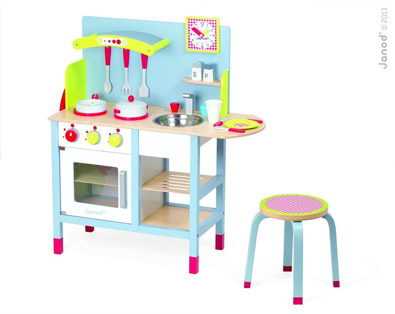 Janod 4506538 Cuisine Jouet Picnik Duo Tabouret Accessoires Cuisine Enfant En Bois