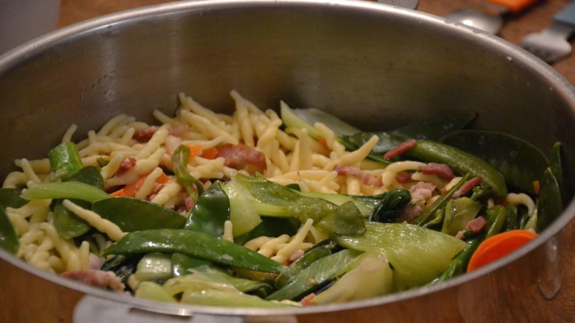 Wok de légumes verts à la française
