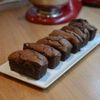 Petits cakes au chocolat... qui gonflent, qui gonflent !