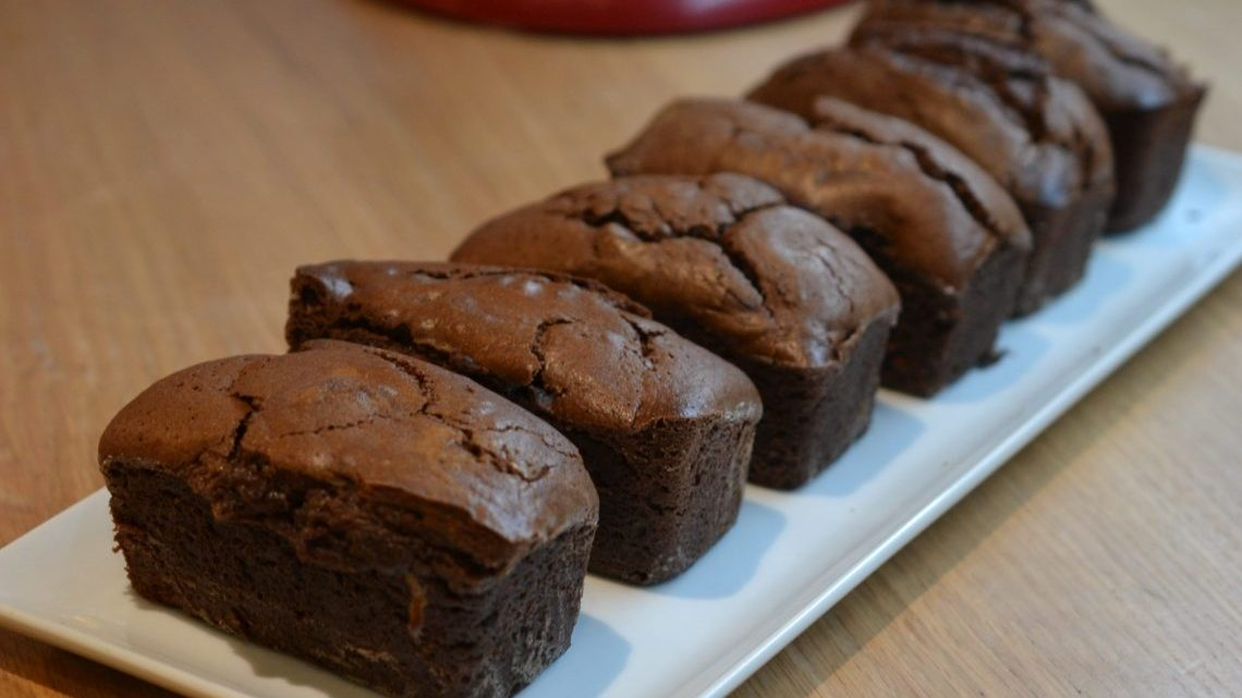 Petits cakes au chocolat… qui gonflent, qui gonflent !