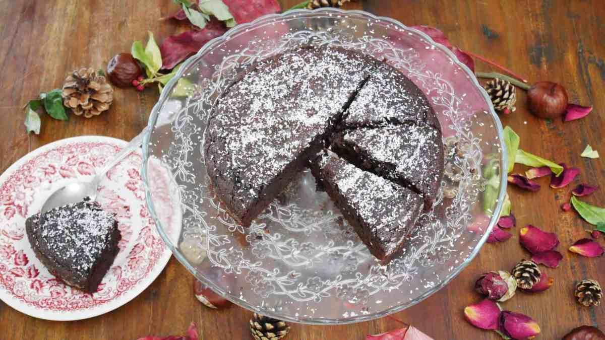 Moelleux au chocolat sans beurre, sans sucre raffiné et sans gluten
