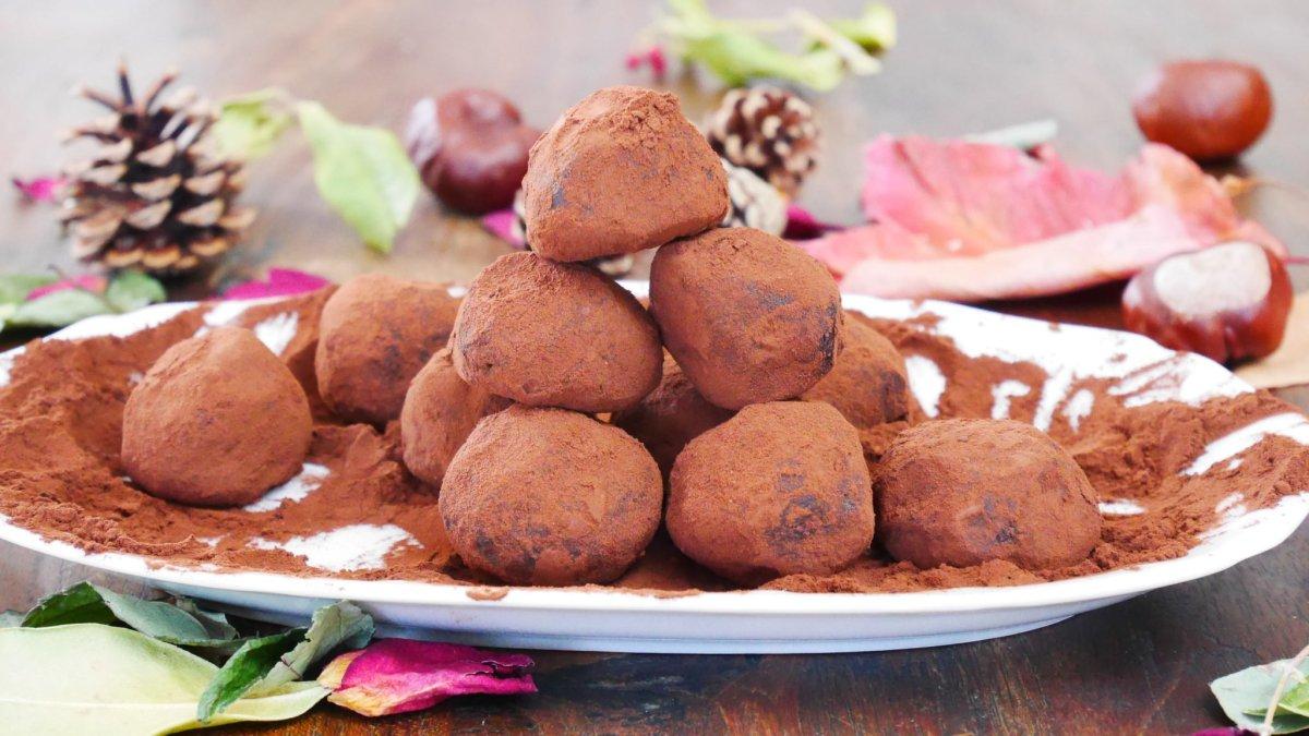 Truffes au chocolat, recette facile pour noël du livre Simplissime