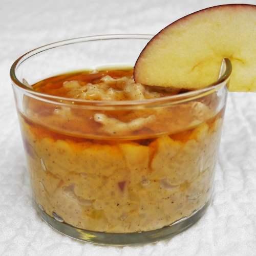 Riz au lait pomme-cannelle au sirop d'érable