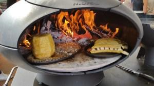 ananas flambée et banane flambée dans le forno garden morso