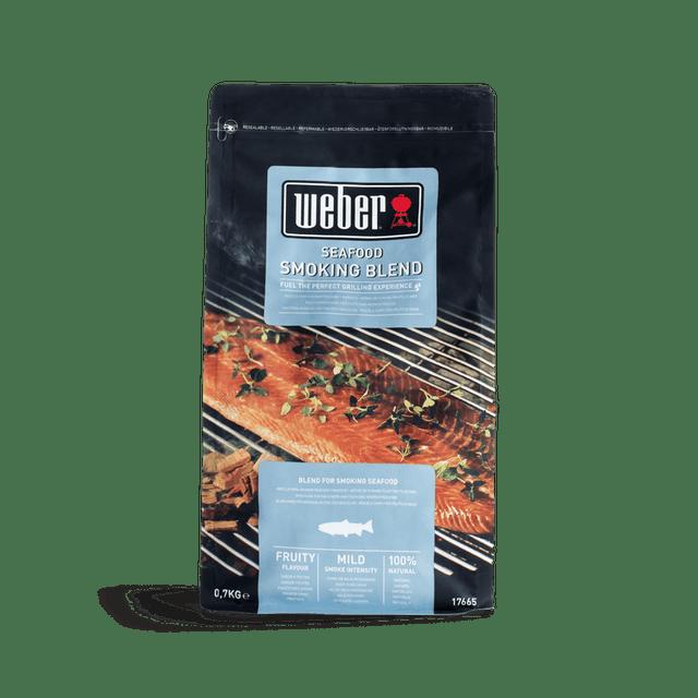 Bois de fumage barbecue weber Mélange de copeaux de bois, fruits de mer