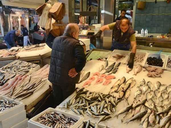 étalage de poisson