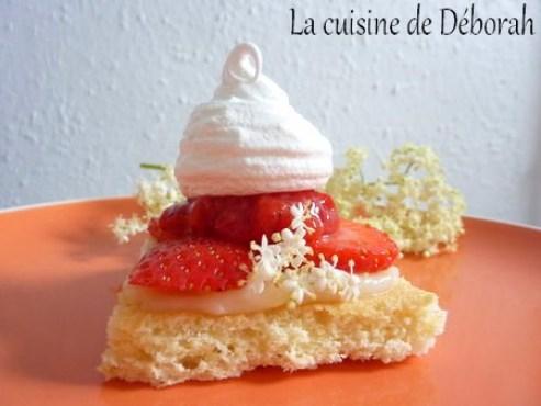 Dessert fraises et sureau   Cuisine de Deborah