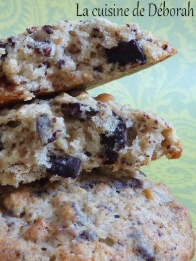 Cookies banane, noix et chocolat   Cuisine de Deborah