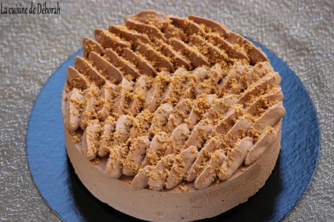Entremets caramel-chocolat, insert crémeux au caramel beurre salé Cuisine de Déborah