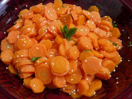 Salade de carottes cuites aux saveurs orientales - Cuisine de Deborah