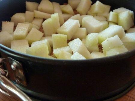 Cheesecake poires-caramel - Cuisine de Deborah