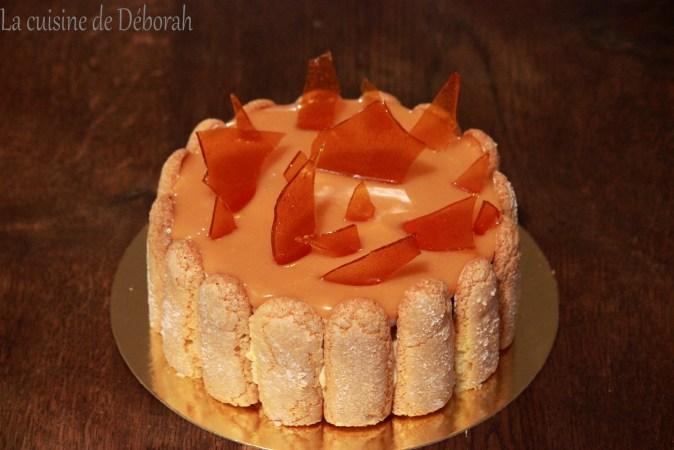 Charlotte vanille-caramel Cuisine de Deborah