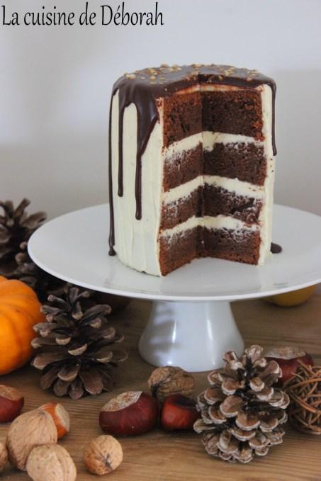Layer cake au chocolat Cuisine de Deborah