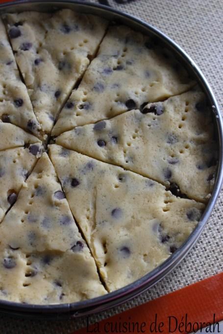 Shortbreads aux pépites de chocolat Cuisine de Deborah