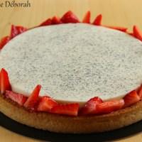 Tarte panna cotta aux fraises