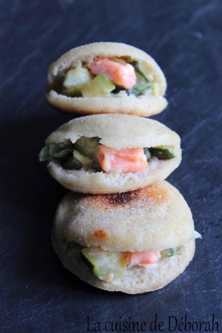 Minis batbouts saumon-courgette   Cuisine de Deborah
