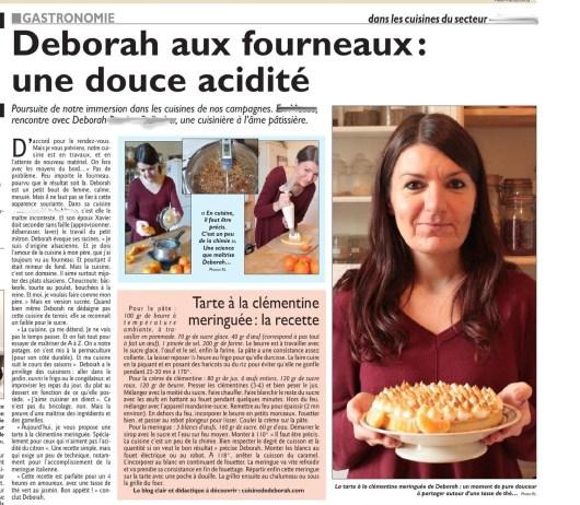 Tarte à la clémentine meringuée  Cuisine de Deborah