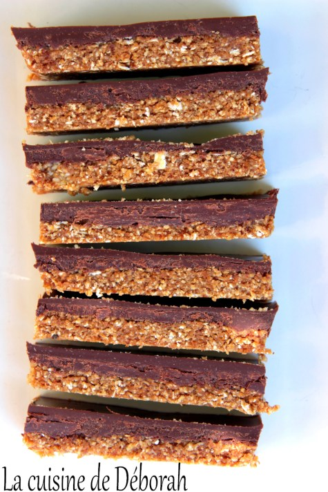 Barres crues, avoine chocolat et tahini Cuisine de Déborah