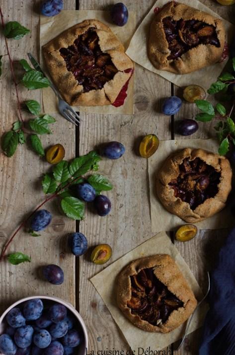 Tartelettes rustiques aux quetsches     la cuisine de deborah