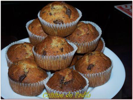Muffins banane chocolat et semoule
