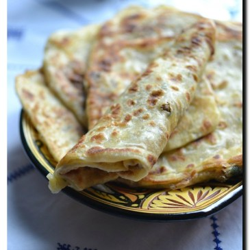 Galettes Marocaine farcie à la viande hachée (msemen farcie)