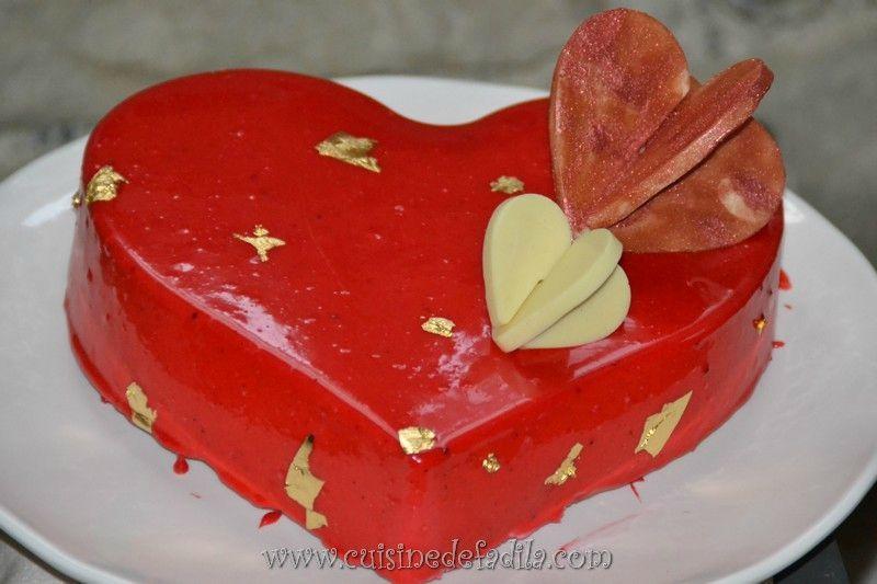 Cœur entremets framboise et lemon curd pour la Saint-Valentin
