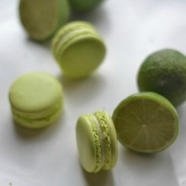 macarons au citron vert