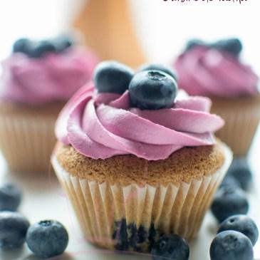 Cupcake à la myrtille bleuet : Blueberry cupcake