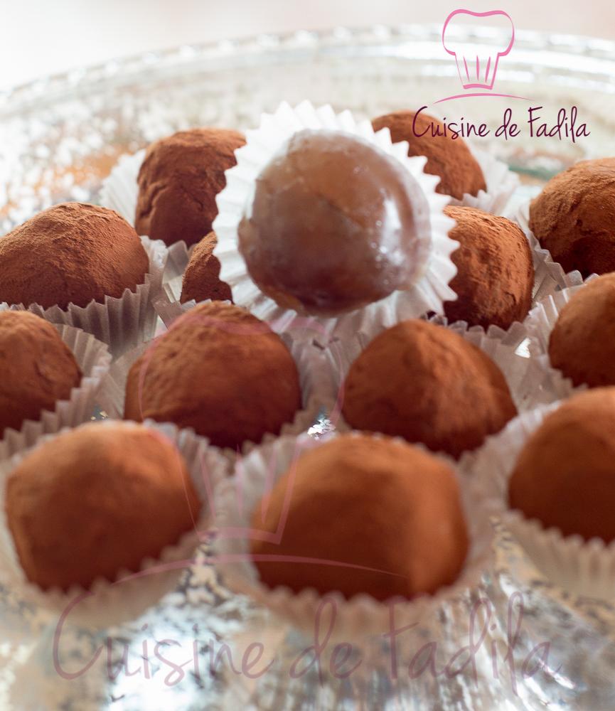 Truffes aux marrons glacés : recette en vidéo