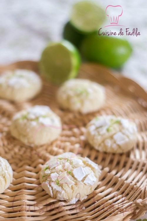 crinkles au citron vert