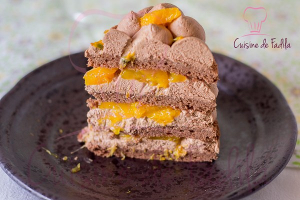 gâteau chocolat orange passion