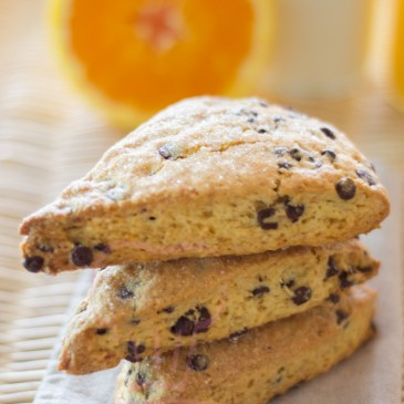 Scones chocolat orange
