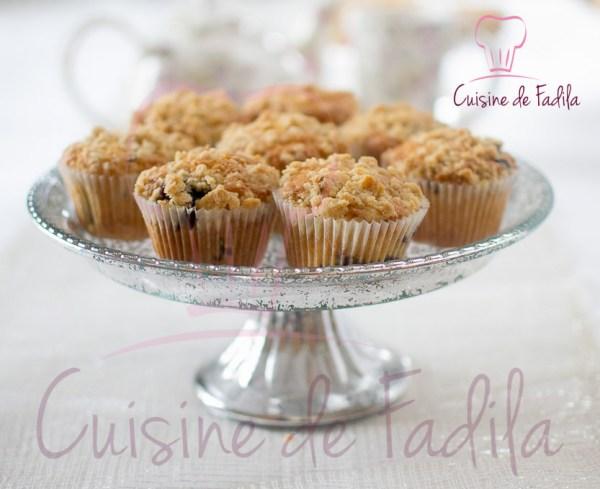 muffins myrtilles streusel