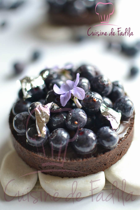 tartelette chocolat bleuet