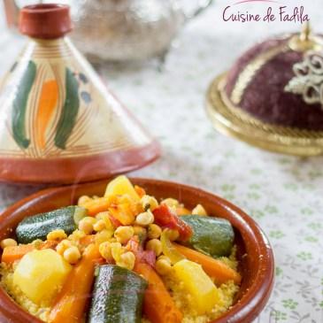 Couscous à la semoule de maïs et aux légumes
