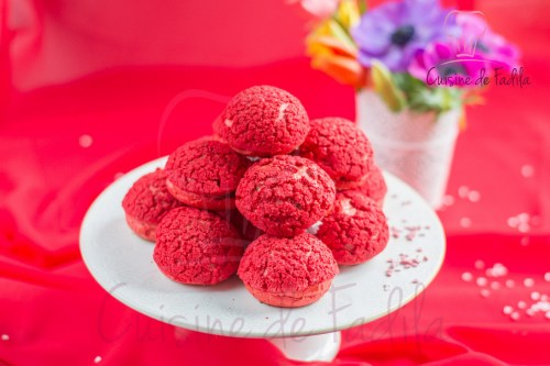 chou red velvet au chocolat