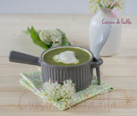 soupe de courgettes à l'ail des ours