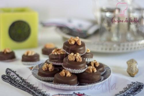 sablés aux noix et au chocolat