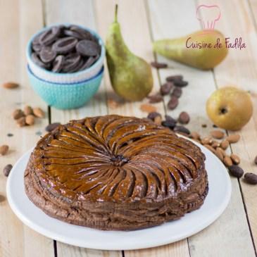 Galette des rois chocolat poire