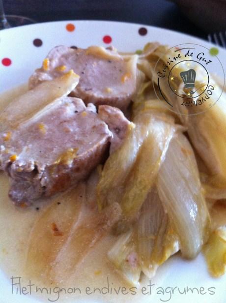 filet mignon aux endives et agrumes assiette h