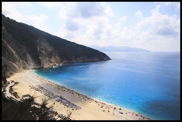 Corfu, ile grecque, une des plus belles plages du monde