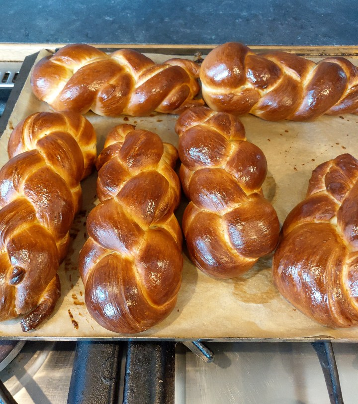 Loaves of freshly baked tresse