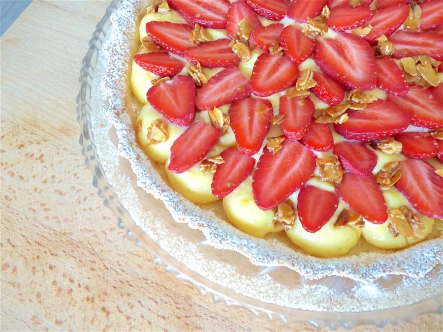 Tarte aux fraises amandine