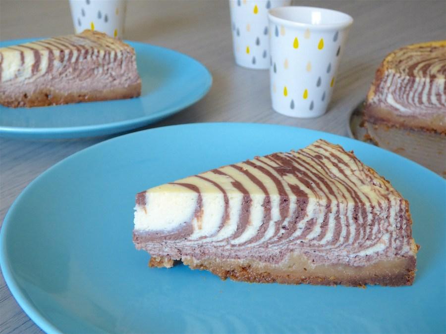 cheesecake zebra marbré