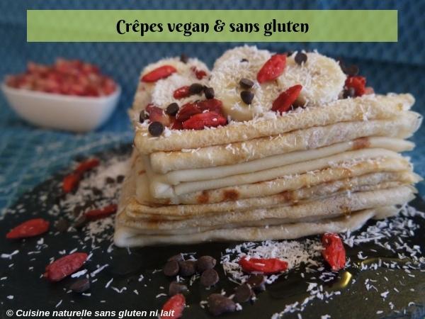 Recette de crêpes hyper simple {vegan & sans gluten}