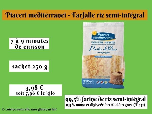 Piaceri mediterranei - Farfalle riz semi-intégral