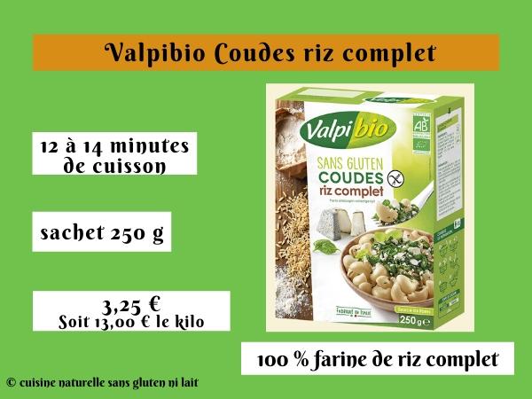 Valpibio Coudes riz complet