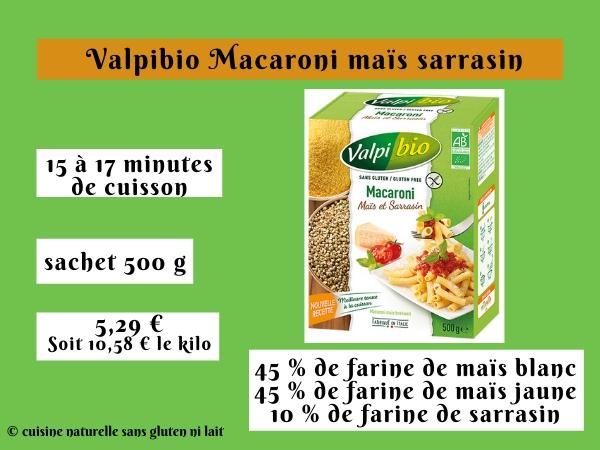 Valpibio Macaroni maïs sarrasin